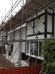 Front Elevation Full Scaffold