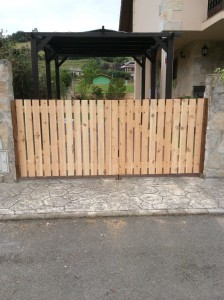 Garden gates constructed in pine