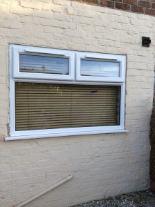 Replacement UPVC window frame